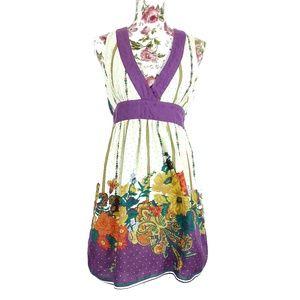 3/$35 Flying Tomato V-Neck Autumn Print Dress